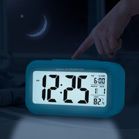 7-color Changing Lights Nature Sounds LED Digital Alarm Snooze light Clock with Thermometer & Timer