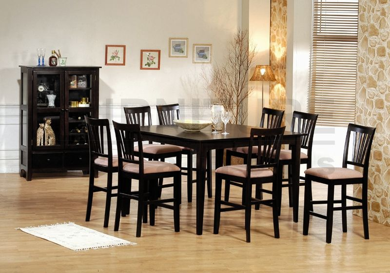 European Style Solid Wooden Dining Table Custom Made Wood Dining Table And  Chair