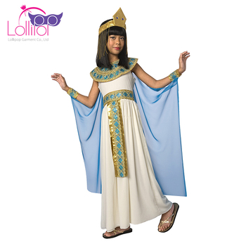 Factory price OEM welcome kids cosplay costumes little girls cleopatra role play outfit clothes