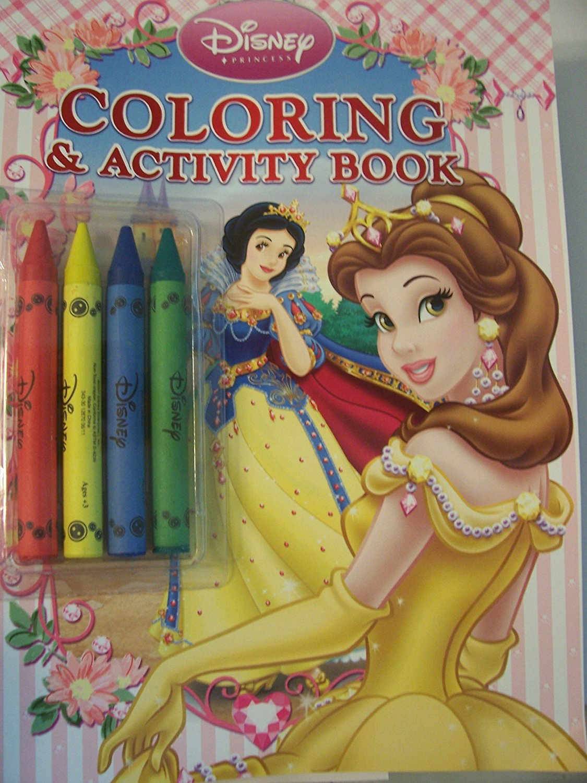 Disney Princess Coloring Activity Book With Chunky Crayons