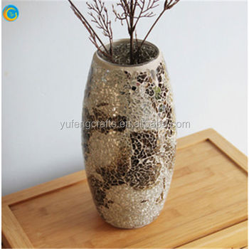 Mosaic Glass Vases For Home Decorationcolorful Top Square Glass