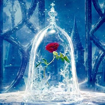 The Beauty And Beast Enchanted Rose With Gl Dome