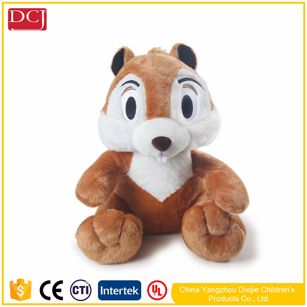 hot sale imitative animal soft plush squirrel doll toy for kids