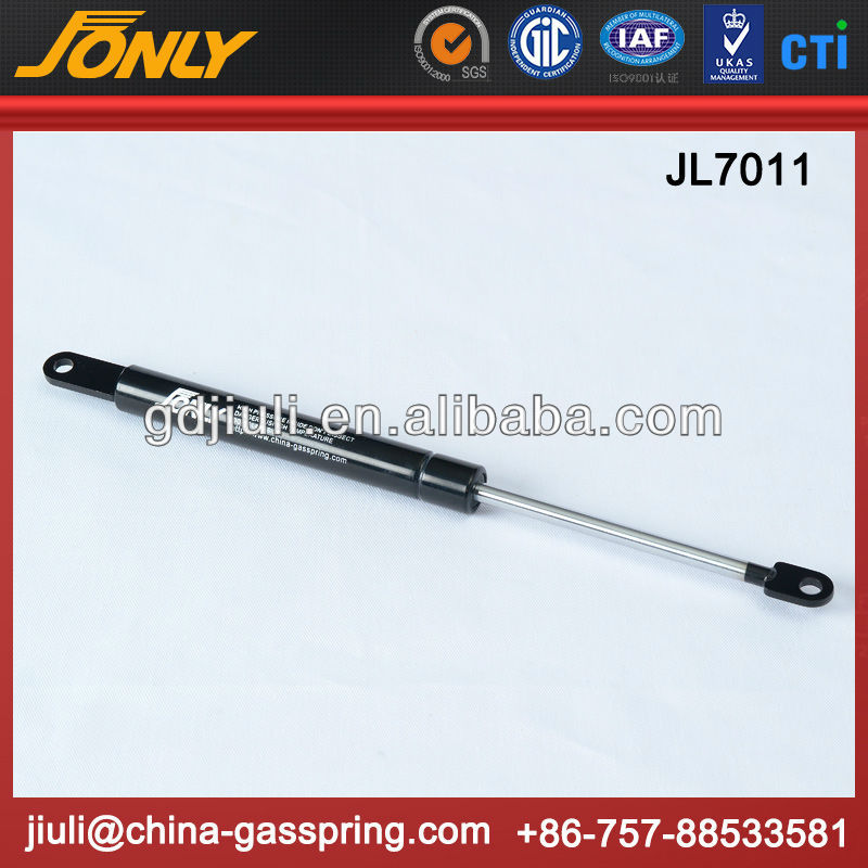 Folding bed mechanism gas spring