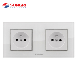 Songri china supplier manufacture hot selling socket glass duplex double french socket