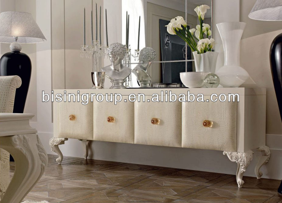 Royal Italian Wooden Sideboards Server Pure White Buffet BF11-1225c