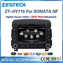 Dashboard 2 din car dvd gps for Hyundai Sonata NF 7 generation 2006 2007 2008 car gps audio player with Radio TV BT Navigation