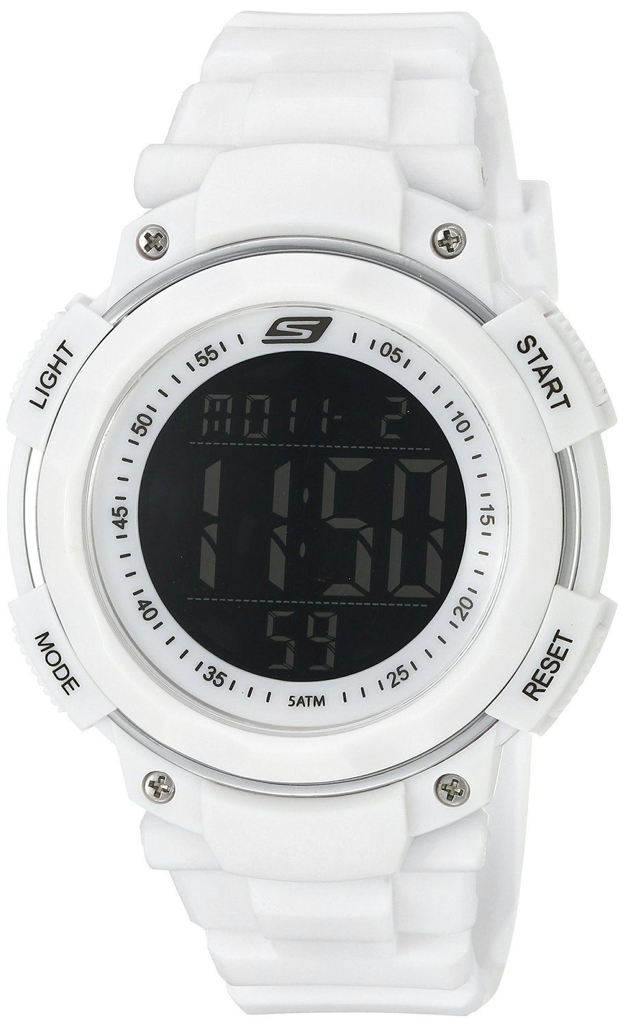 8b0b7b7a55f7 Get Quotations · Skechers Men s SR1020 Digital Display Quartz White Watch