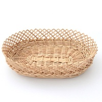 Factory Direct Sale Handmade Natural Eco Friendly Wooden Basket For Fruit