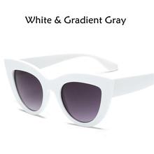 2018 nuevas gafas de sol de ojo de gato para mujer lentes de Color tintadas  para hombre gafas de sol con forma Vintage para muje. 2c923e893b70