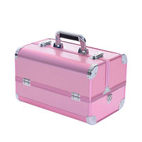 Hi Quality portable carring makeup beauty cosmetic case with trays