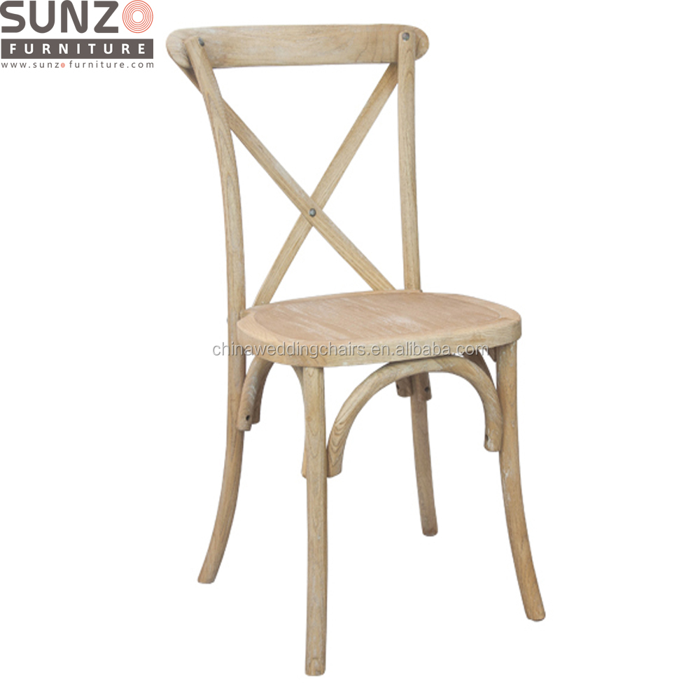 Factory Wholesale Stackable Cross Back Wood Banquet Chair SZ-6101A