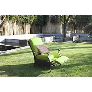 fa68a791ecf Providence Outdoor Seating Living Backyard Patio Lawn Garden Furniture  Recliner Wicker Chair