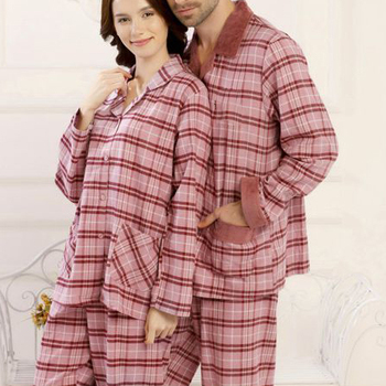 Wholesale Family Christmas Pajamas Women Sleepwear Couple Cotton Pajamas