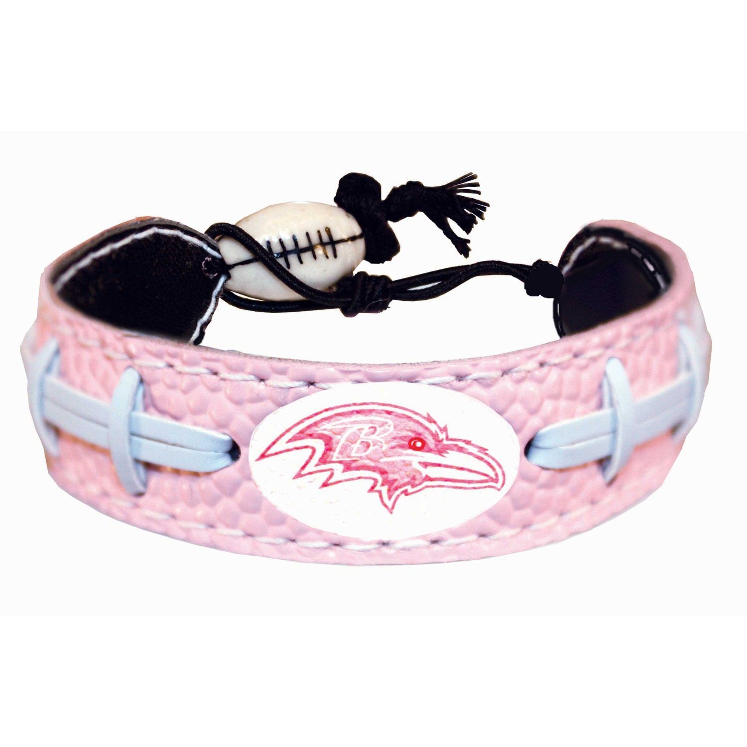 Baltimore Ravens Pink NFL Football Bracelet