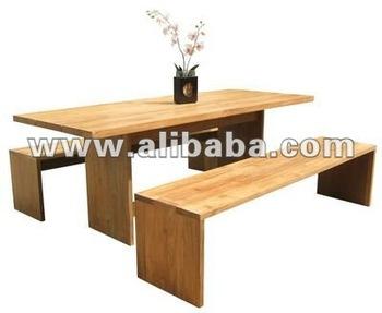 Indonesian Adonara Indoor Dining Table Set Teak Solid Wood Furniture ...