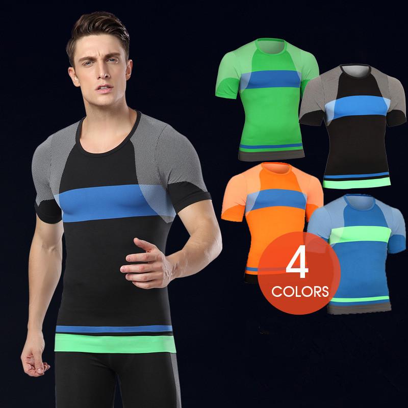 New-Arrival-Men-Compression-Short-Sleeves-T