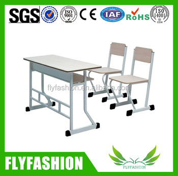 Dubai School Furniture Student Double Desk And Chair For