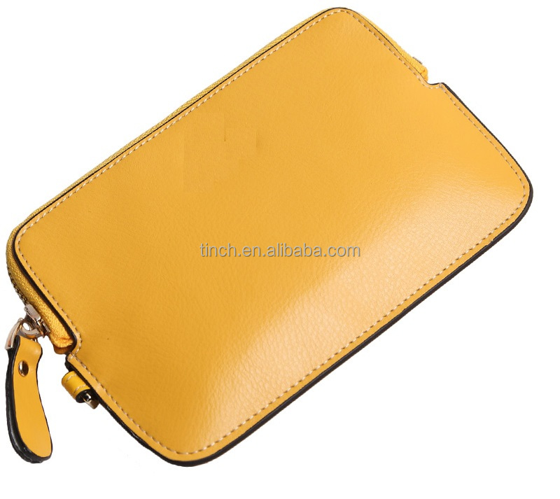 Cute leather coin case / wholesale pu leather coin purse with zipper