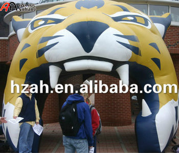 Giant Inflatable Tiger Tunnel Tent / Inflatable Sport Mascot Tunnel Tent & Giant Inflatable Tiger Tunnel Tent / Inflatable Sport Mascot ...