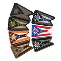 USA STATE Ohio FLAG OH Hook Loop Patch United States of America Embroidered Patch U.S Tactical patch stock