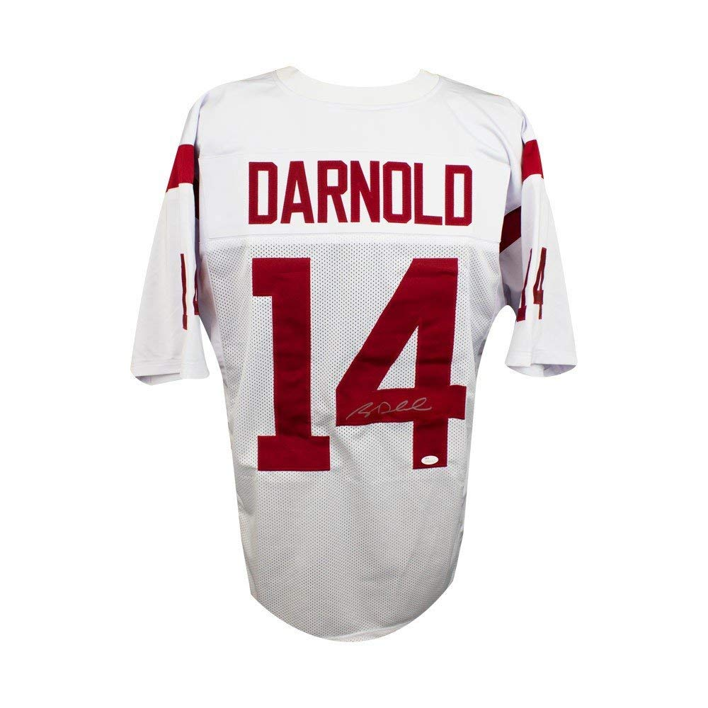 78beac442 Get Quotations · Sam Darnold Autographed USC Trojans Custom White Football  Jersey - JSA COA