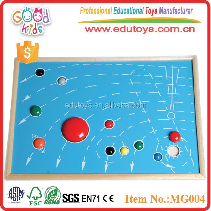 Wooden Puzzle Teaching aids Toys Puzzle Map of 9 Planets Baby Self-Assembly Toys
