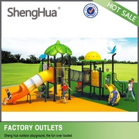 Big size hot selling multiple children outdoor climb slide playground