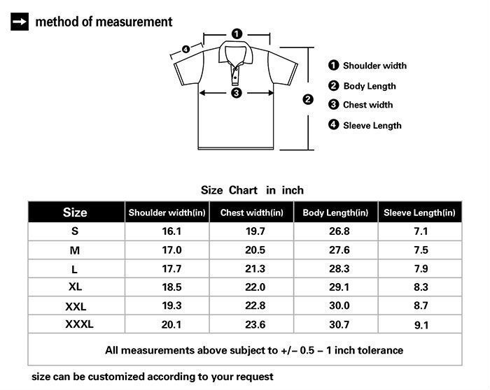 Us polo t shirt size chart us polo assn t shirt size for Us shirt size chart