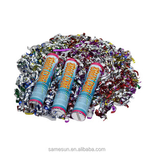 Wedding colorful foil streamer confetti cannon party popper