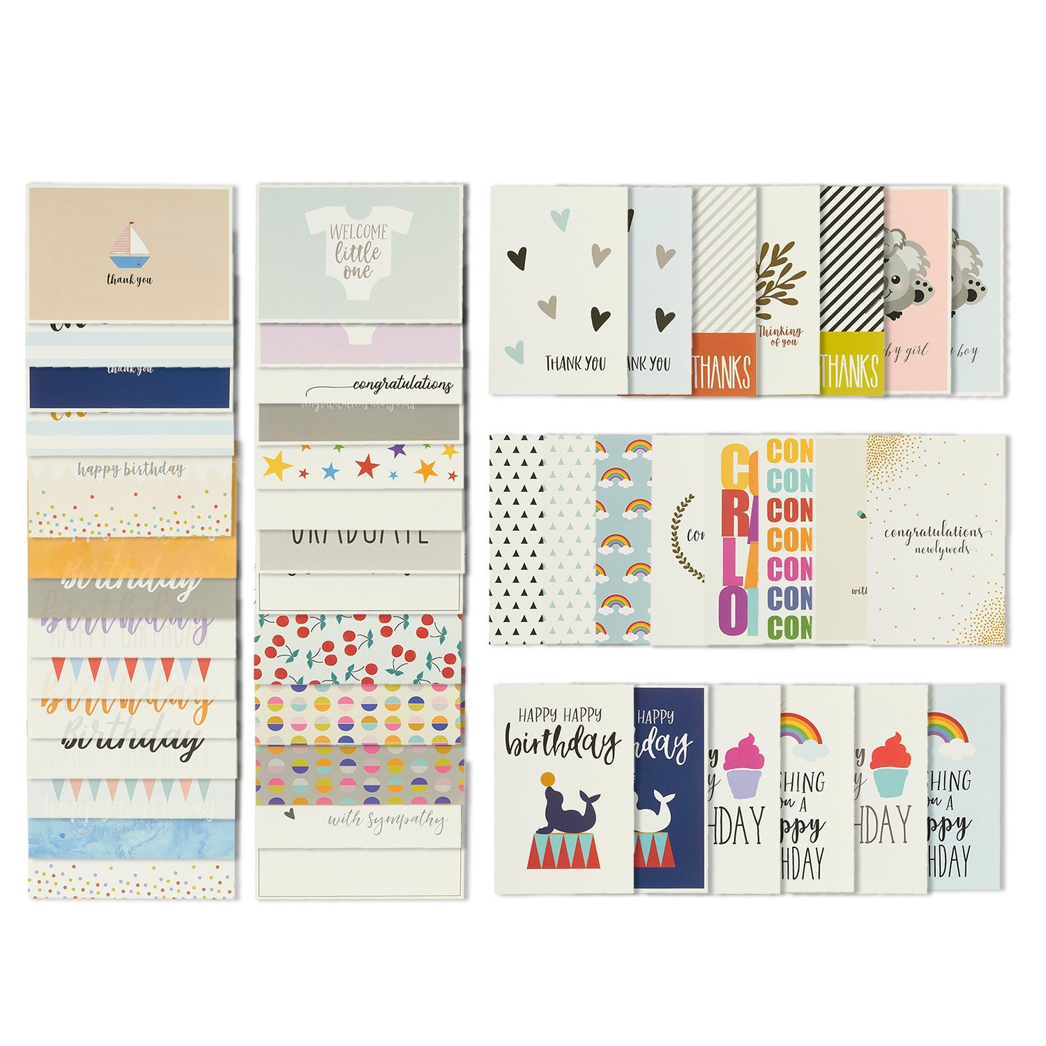 Buy 48 all occasion greeting cards assorted happy birthday thank 48 all occasion greeting cards assorted happy birthday thank you wedding blank m4hsunfo
