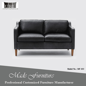 Best Contemporary Furniture Design 2 Seater Black Leather Sofa For Home  Furnishing - Buy Black Leather Sofa,Contemporary Leather Sofa,2 Seater Sofa  ...