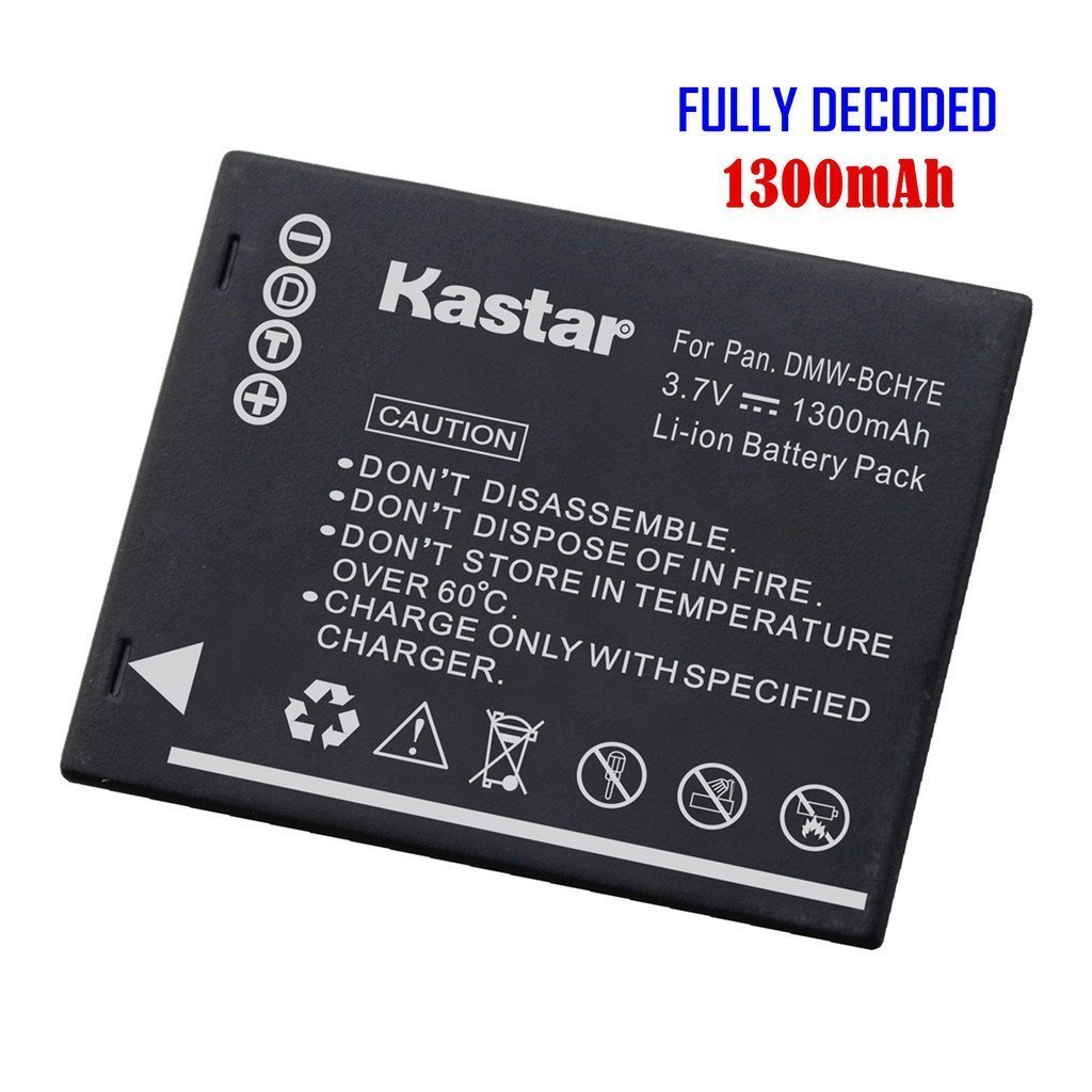Kastar Battery (1-Pack) for Panasonic DMW-BCH7, DMW-BCH7PP, DMW-BCH7E, DE-A76 work with Panasonic Lumix DMC-FP1, DMC-FP2, DMC-FP3, DMC-FT10, DMC-TS10 Cameras