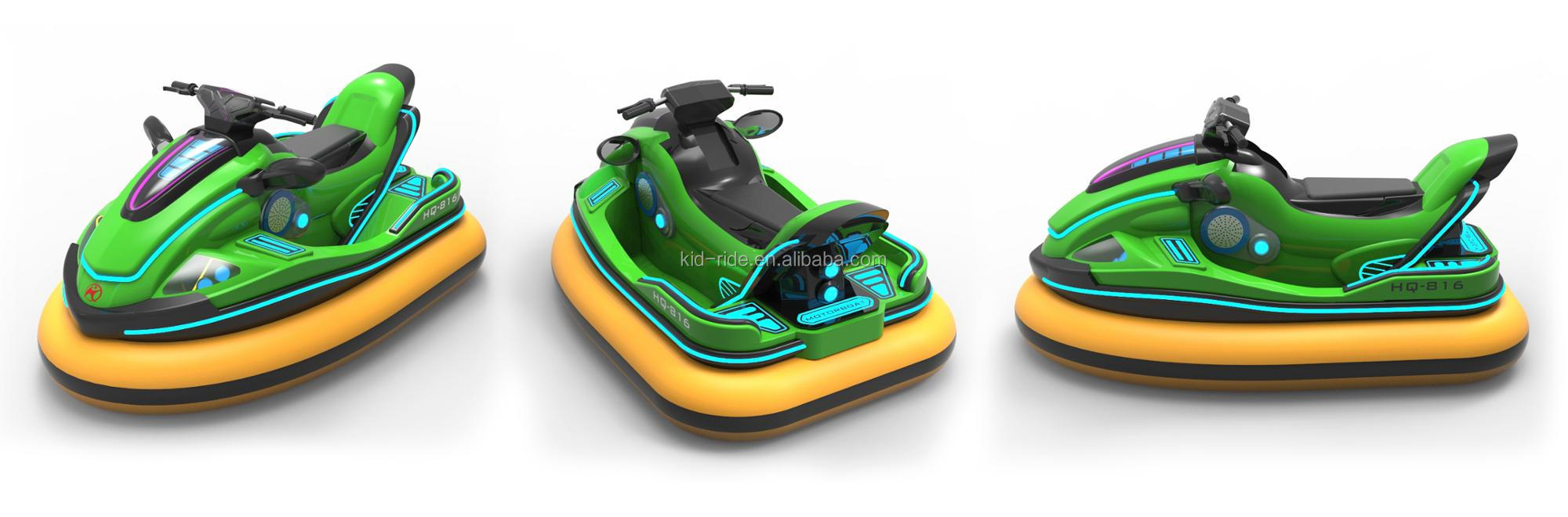 Amusement Park Outdoor Fiberglass Electric Battery Bumper Car for Kids Rides