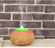 300ml wood grain electric aromatherapy diffuser air humidifier with 7 Color LED lights for Office Home Living Room Yoga Spa