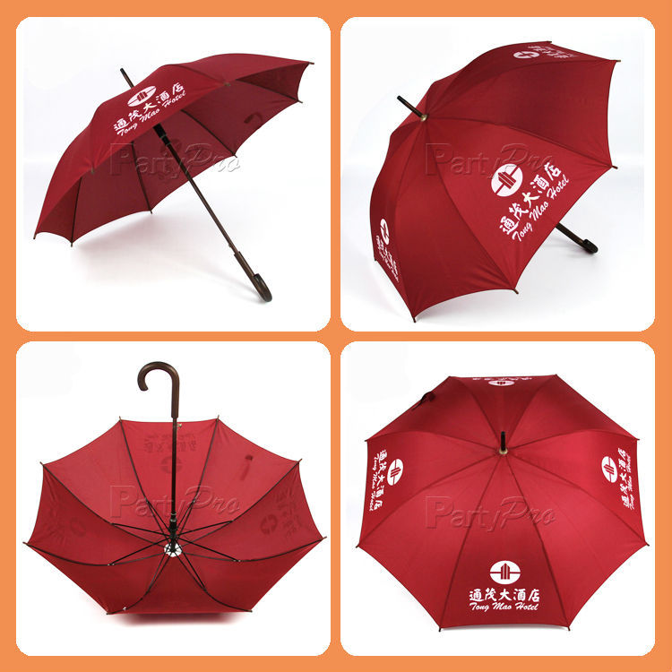 2015 China Promotional Golf Umbrella Manufacturer Custom Design Premium Windproof Outdoor Umbrella With Pouch For Shoulder