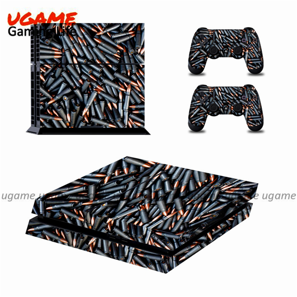 Bullet design vinyl sticker for ps4 controller skin