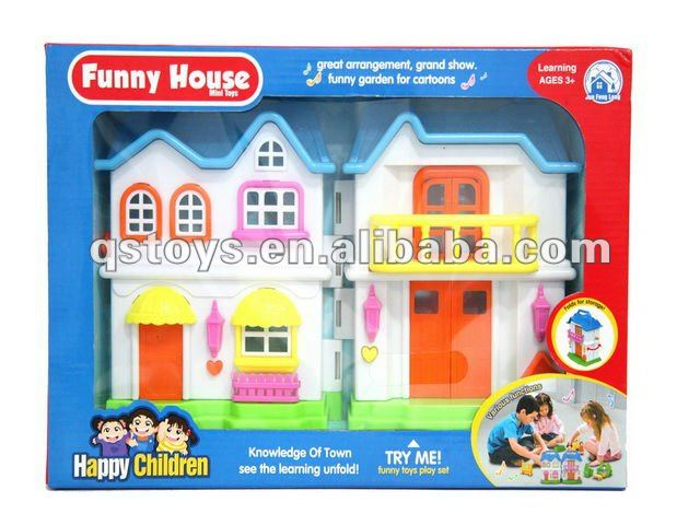Plastic DIY doll house for kids