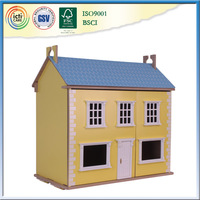 Wooden house as girl 3d pictures for home decoration