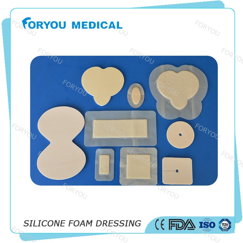 Foryou Medical 2016 fda approved Mepilex dressing adherent sterile silicone antimicrobi ostomy silicone foam aquacel ag dressing