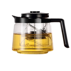 Handle Cover high quality Commercial Glass Coffee Tea Pot With Infuser
