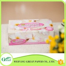 Beautiful pink box facial tissue with soft silky paper