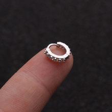 Серьги-кольца для ушной хрящ 6 мм/8 мм/10 мм CZ Crystal Helix, золотые/серебристые кольца для носа, ювелирные изделия для тела H40, 2019(China)