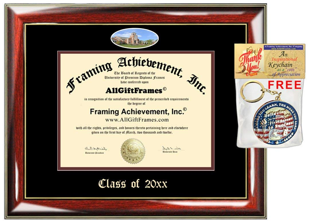 AllGiftFrames Custom Diploma Frame Embossed Lee University College Best Graduation Degree Frame Double Mat Campus Fisheye Lee Picture Frame Cheap Degree Graduate Gift