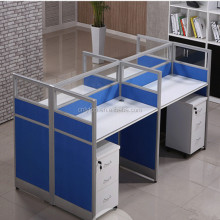 New arrival 4 person L shape combination desig japanese used office furniture