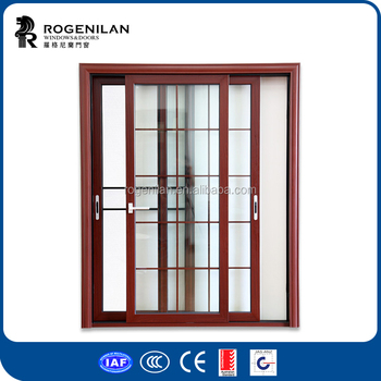 Rogenilan 80 Series Aluminium Framed Three Panel Patio Sliding Glass