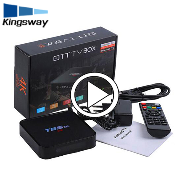Original rooted t95m streaming smart iptv box full HD media player Android TV box 4K android tv box kodi full loaded