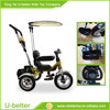 Cheap Air tire baby tricycle new models baby walker tricycle with handlebar