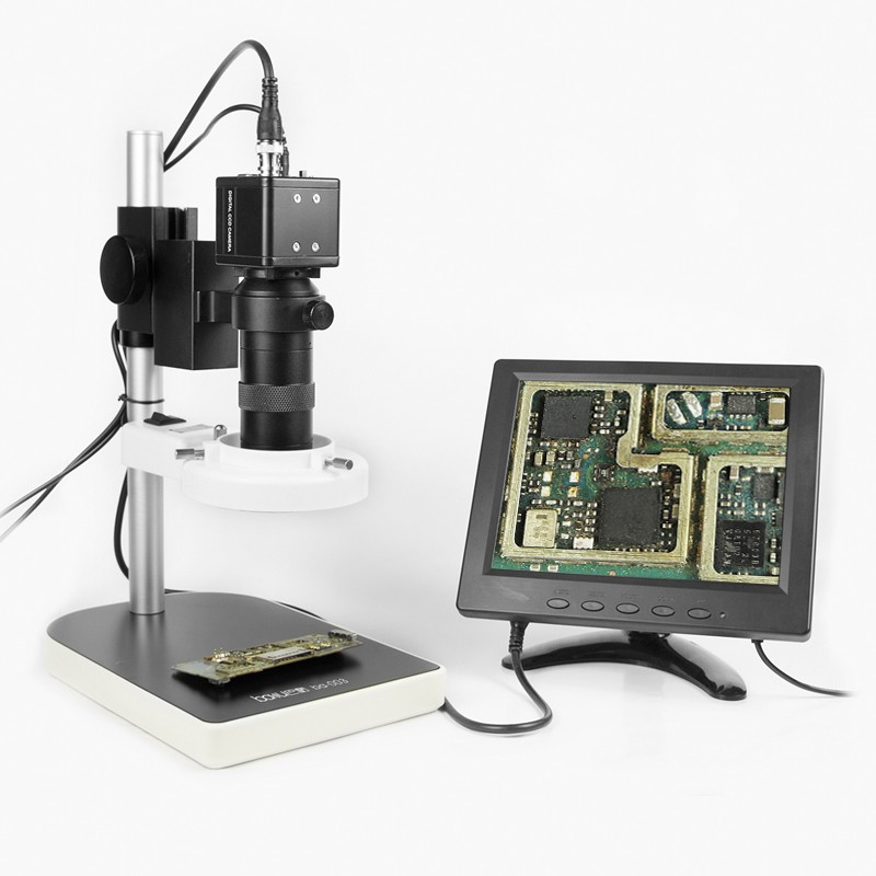 BAKU Good Price Digital Microscope Camera into VGA Display Digital Microscope with LCD Screen ba-003