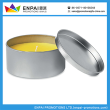 Various Logo Printed Custom top quality giveaway Citronella candle in a tin box